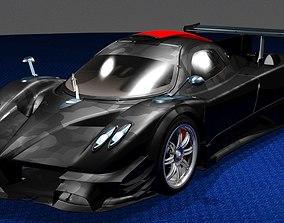 Revolucion Pagani Zonda Track Phantom-Shift 3D model