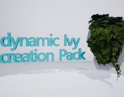 Ivy Creation Pack 3D asset rigged