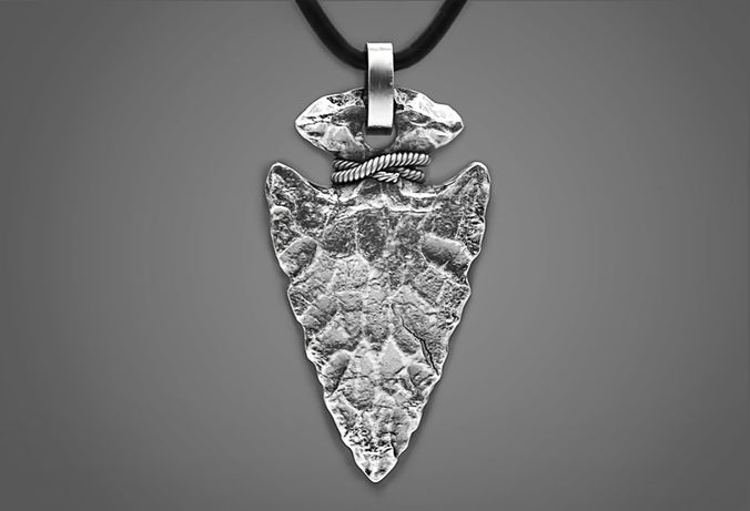 Stone arrowhead pendant 3d print model cgtrader aloadofball Image collections
