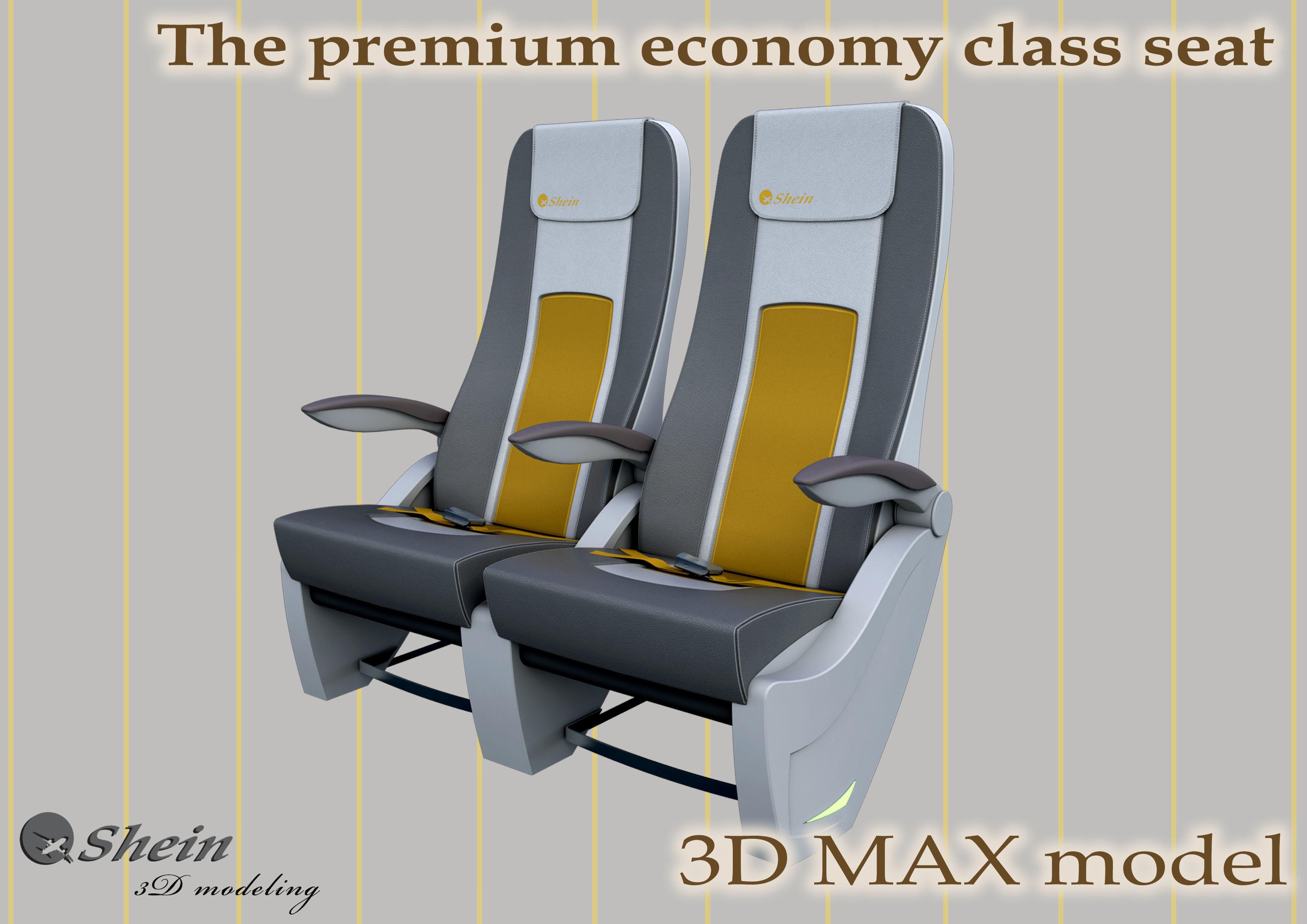 The premium economy class seat