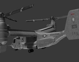 3D V22 OSPREY Helicopter