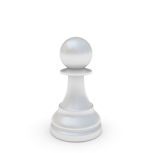 chess pieces - pawn white 3d model max obj mtl 3ds fbx 1