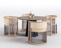 kaishi chair shoreditch dining table 3D