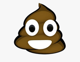 3D Smiling Pile of Poo Emoji