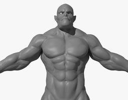 Ogre Monster Character Maya 3D