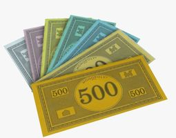 3D model Monopoly Money