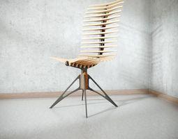 3D Wooden Skeleton Chair