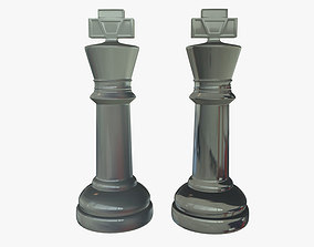 obj 3D model King Chess Pieces Glass