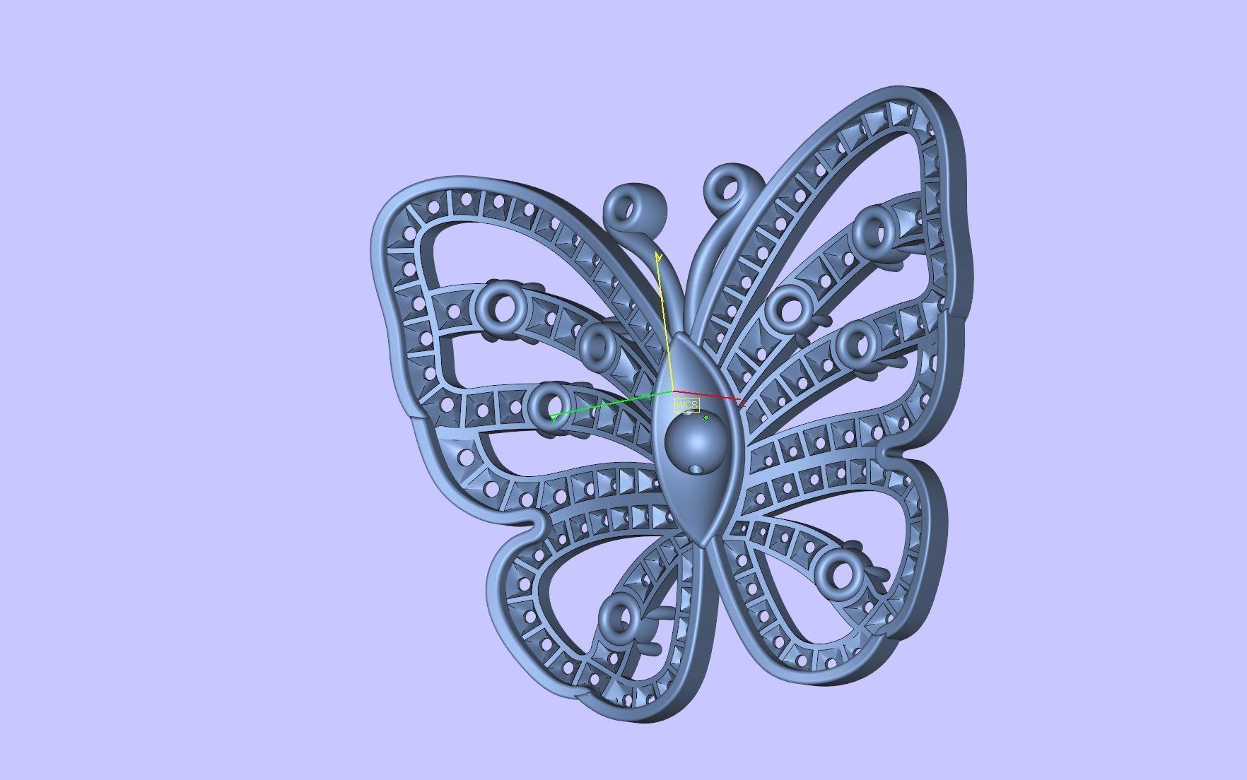 V C Butterfly Rings 3D print model | CGTrader