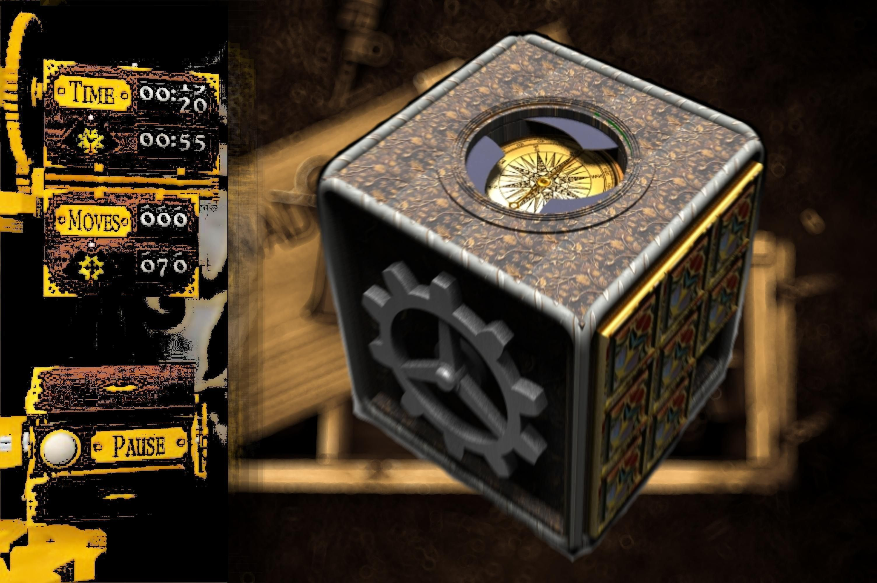 3d steampunk compass puzzle box 1 cgtrader