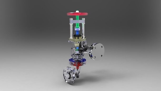 feed check valve assembly 3d model stl ige igs iges 1