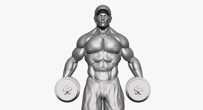 body builder 3d model 3d model ztl 1