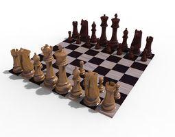 Chess Board queen 3D model