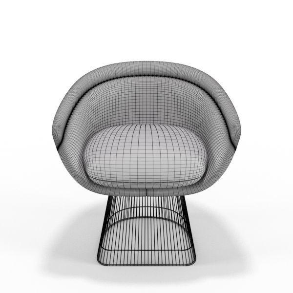 ... warren platner lounge chair 3d model max obj mtl mat 4  sc 1 st  CGTrader & Warren Platner Lounge Chair 3D model low-poly | CGTrader