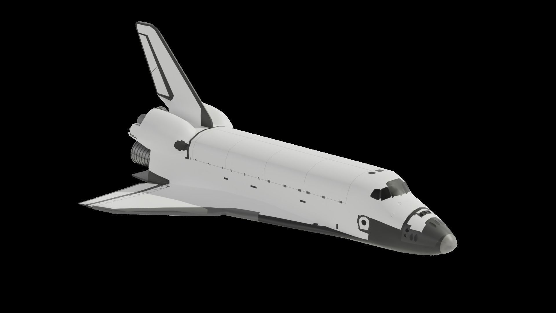 Space Shuttle low poly FREE 3D asset realtime | CGTrader
