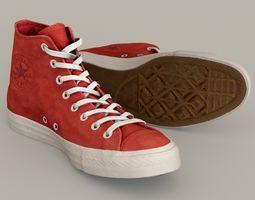 Converse All Star Multi-color Customizable PSD 3D model