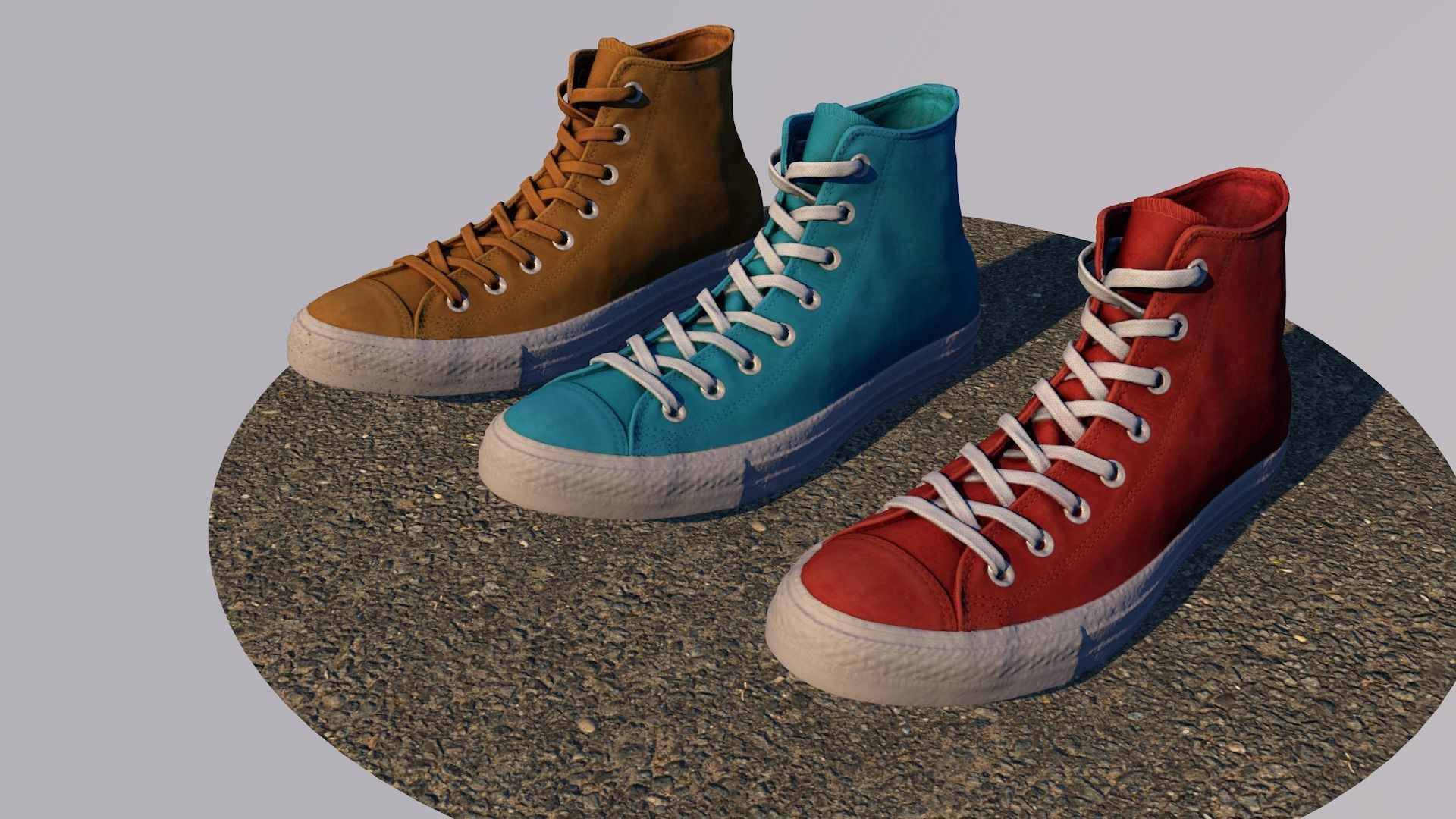 f2154818f595 ... converse all star multi-color customizable psd included 3d model  low-poly max fbx ...