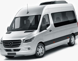 3D Mercedes Sprinter Tourer 2018 high roof