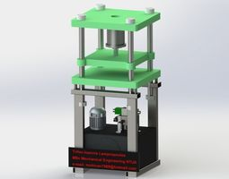 3D model Vertical press brake 50 tons