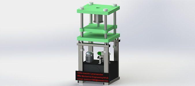 vertical press brake 50 tons 3d model  1