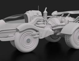 SCI-FI Car - Scifi Vehicle 3D