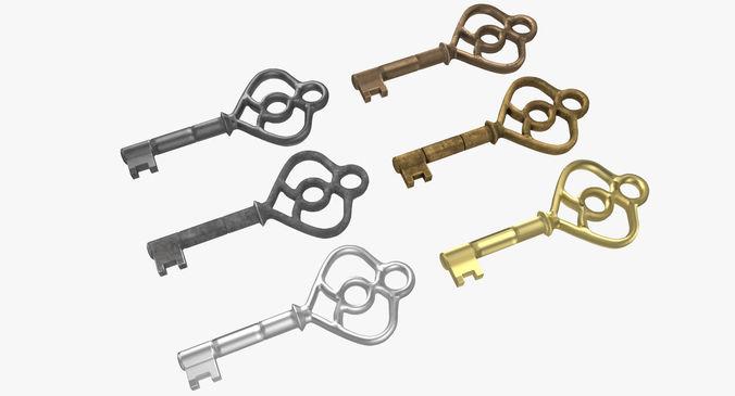 key old 3d model max obj mtl fbx 1