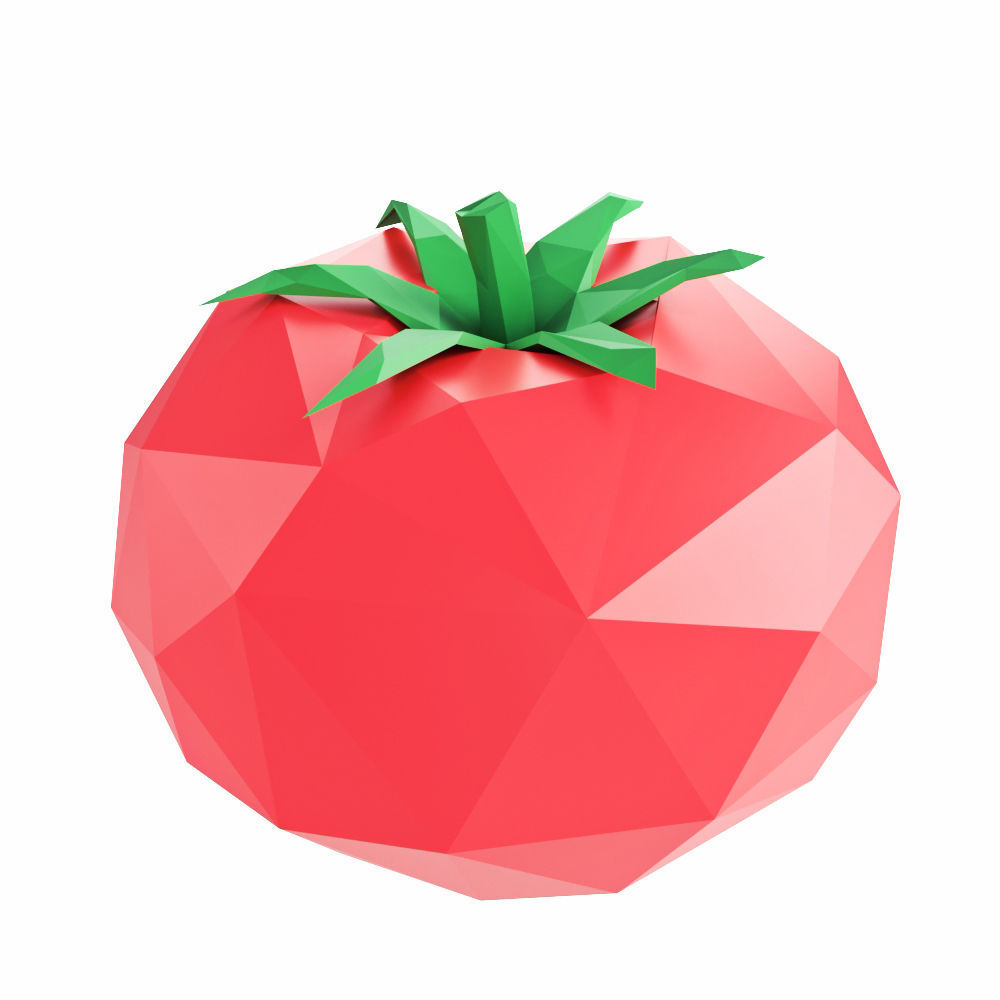 Tomato low poly 3d model cgtrader tomato low poly 3d model low poly max obj 3ds fbx mtl 1 mightylinksfo