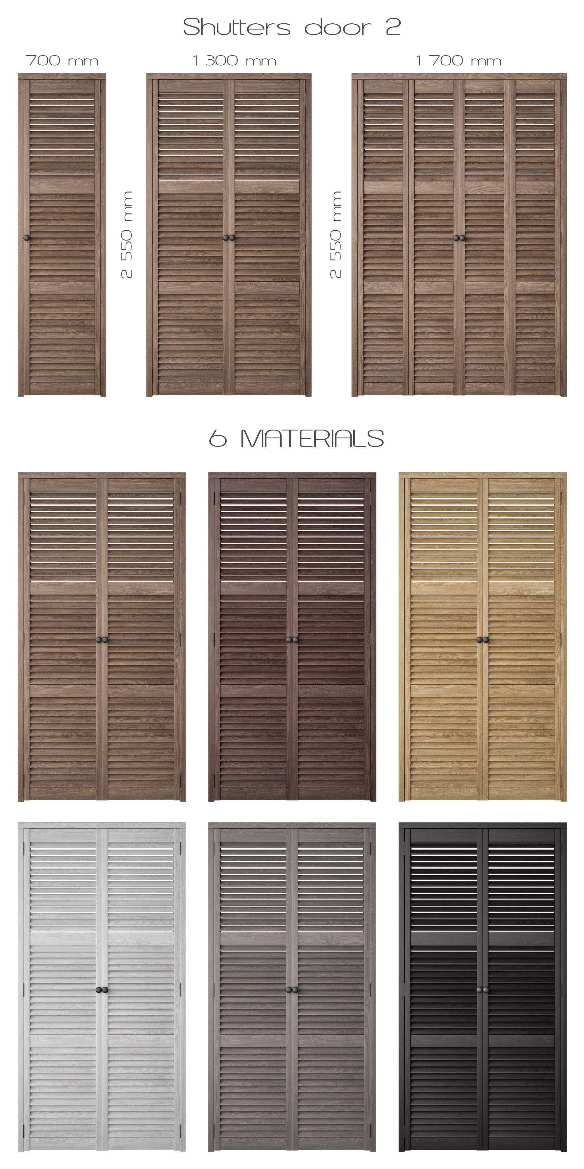 ... shutters door 2 3d model max obj mtl 2 ... & 3D Shutters Door 2   CGTrader
