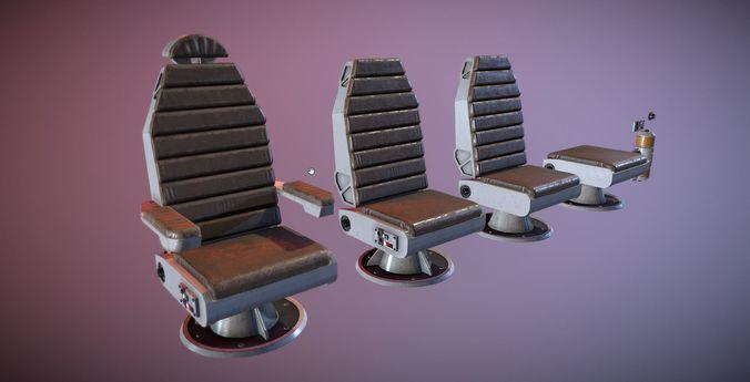 Sci Fi Chair Kit 3d Model Low Poly Fbx Tga 1 ...