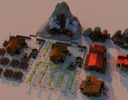 3D asset Mines and fields