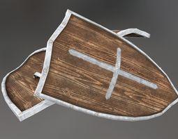 Medieval Shield 3D model rigged