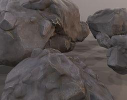 Rock Model Pack - Rock Kitbash - Collection 3D asset