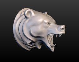 3D printable model Grizzly Bear Head