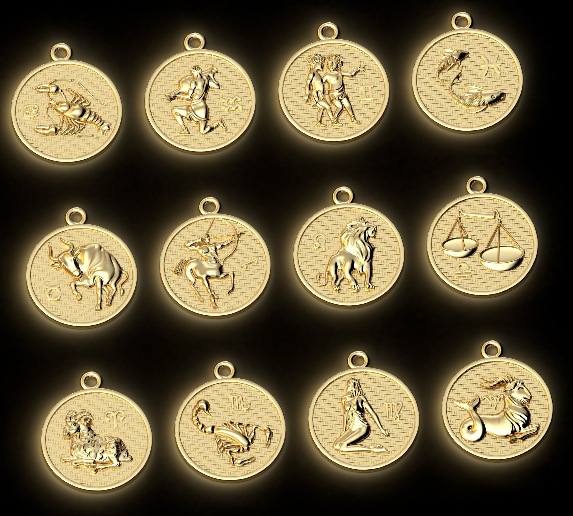 Pendants Horoscope collection for CNC