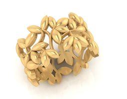 beauty The Beautiful Leaf ring 3d model