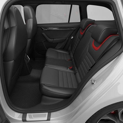 Skoda Octavia Combi RS 2014 detailed interior 3D model