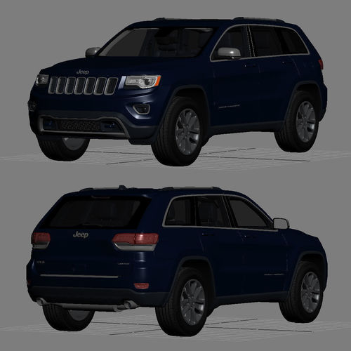 Jeep Grand Cherokee 2014 Detailed Interior 3d Model Max Obj Mtl 3ds Fbx 29