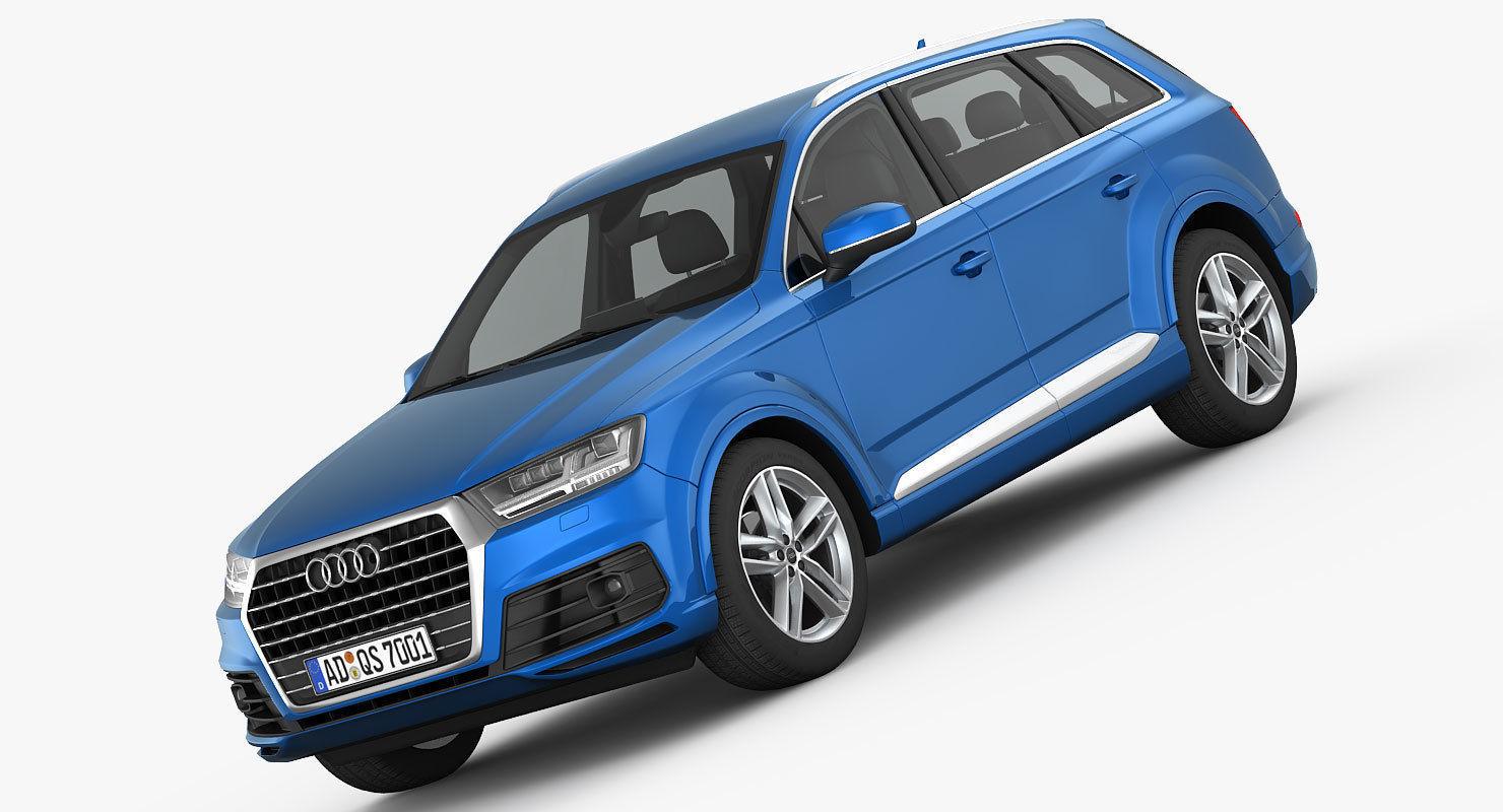 Audi Q7 S-Line 2016 detailed interior