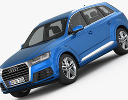 Audi Q7 S-Line 2016 detailed interior 3D