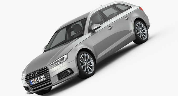 3D model Audi A4 Avant 2016 detailed interior | CGTrader