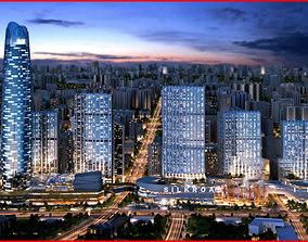 Modern City Animated 033 3D model