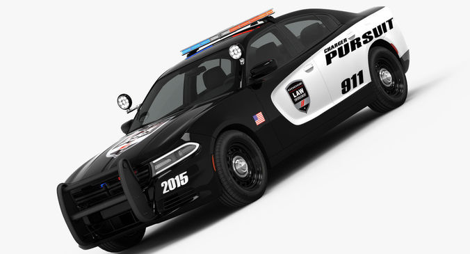 Dodge Charger Pursuit 2015 Detailed Interior 3d Cgtrader