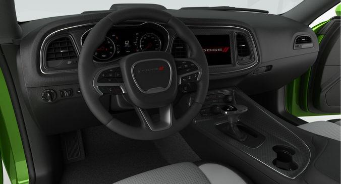 Dodge Challenger Rt Shaker 2015 Detailed Interior 3d Model Max Obj 3ds Fbx  Mtl 21