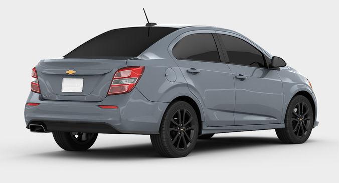 Chevrolet Sonic Sedan 2017 Model Max Bip Obj Mtl S Fbx 2