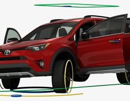 3D Toyota RAV4 Adventure 2018 Rigged