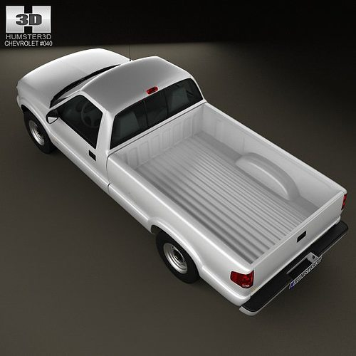 Chevrolet S10 Single Cab Long Bed 1994 3d Model Cgtrader