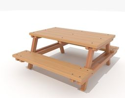 Park Picnic table 3D asset