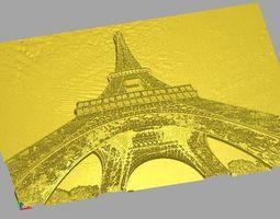 Eiffel Tower Relief 3D