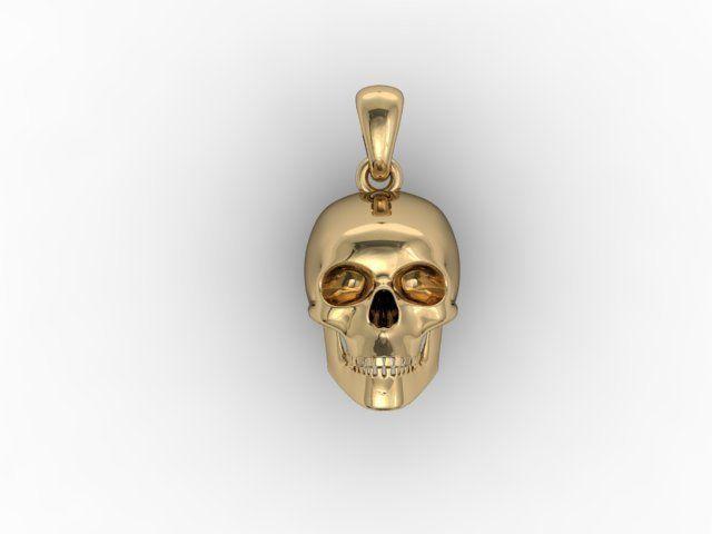 skull pendant 3dm 3d model stl 3dm 1