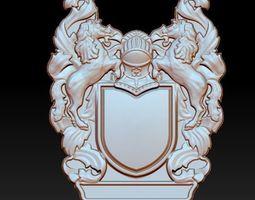 3D printable model coat of arms